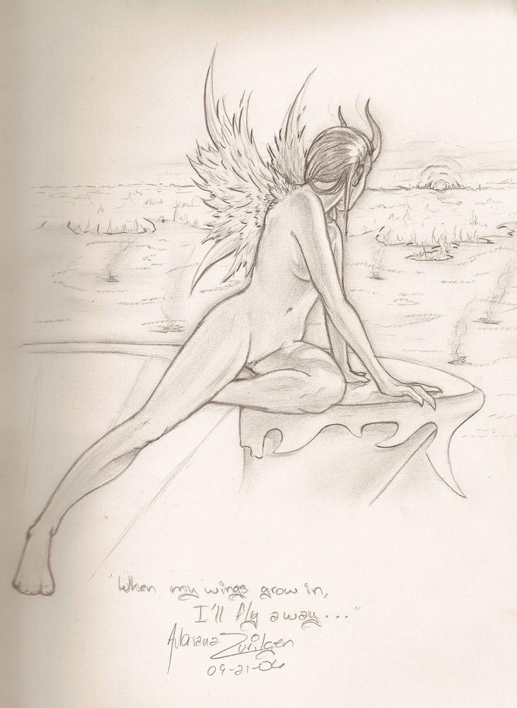 When my wings grow in... by Terra-fen