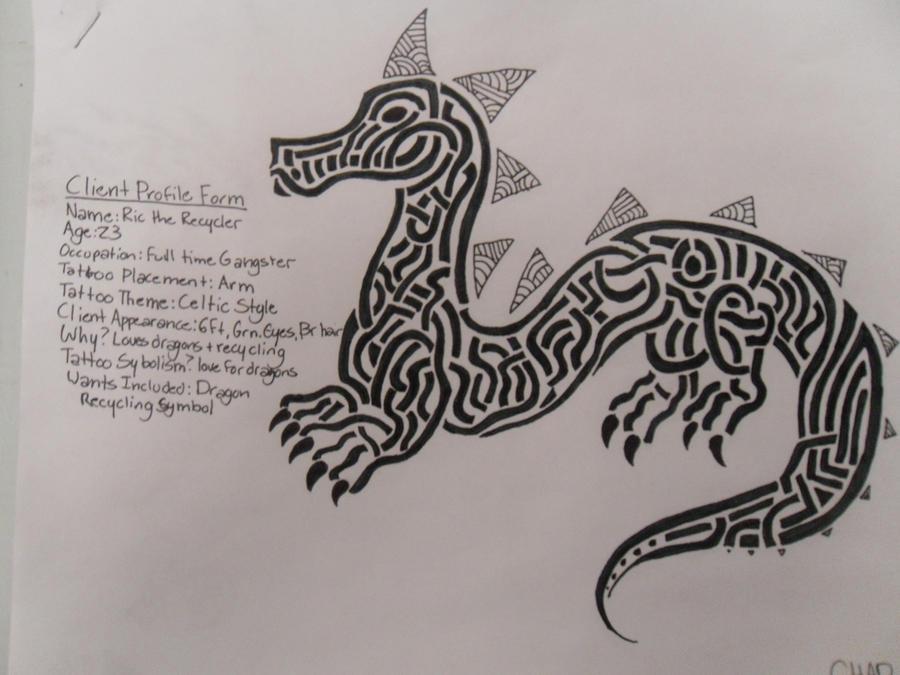 Celtic Dragon Tattoo Design by invaderwaffle13 on deviantART