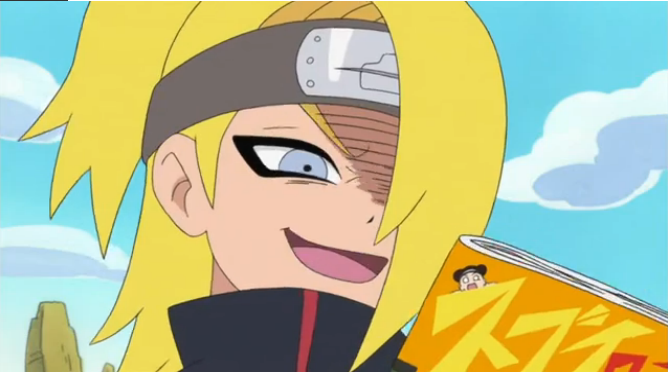 Deidara reading a magazine? #2 by NarutoAkatsukiAnime