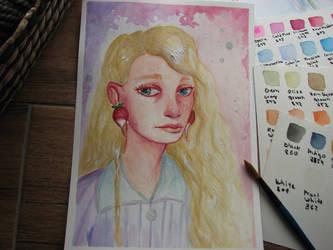 Luna Lovegood by doloresdraws