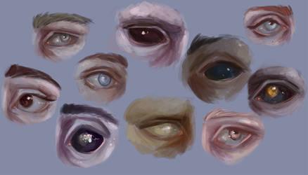 OC eyes by doloresdraws