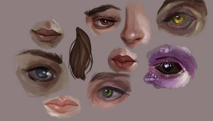 Facial features practice by doloresdraws