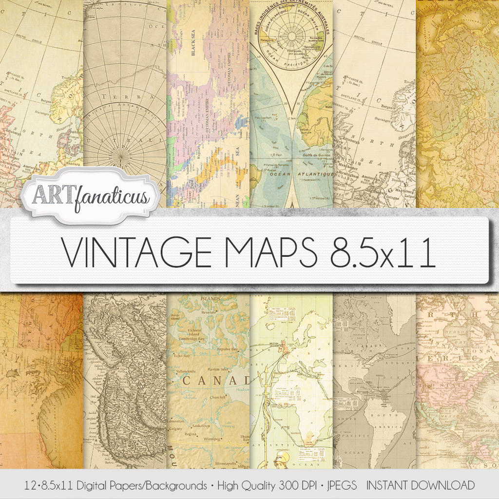 Digital papers vintage maps 85x11 by artfanaticus on deviantart digital papers vintage maps 85x11 by artfanaticus gumiabroncs
