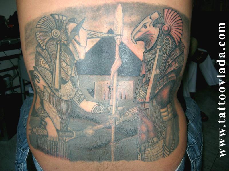 anubis and horus by tattootocka on DeviantArt