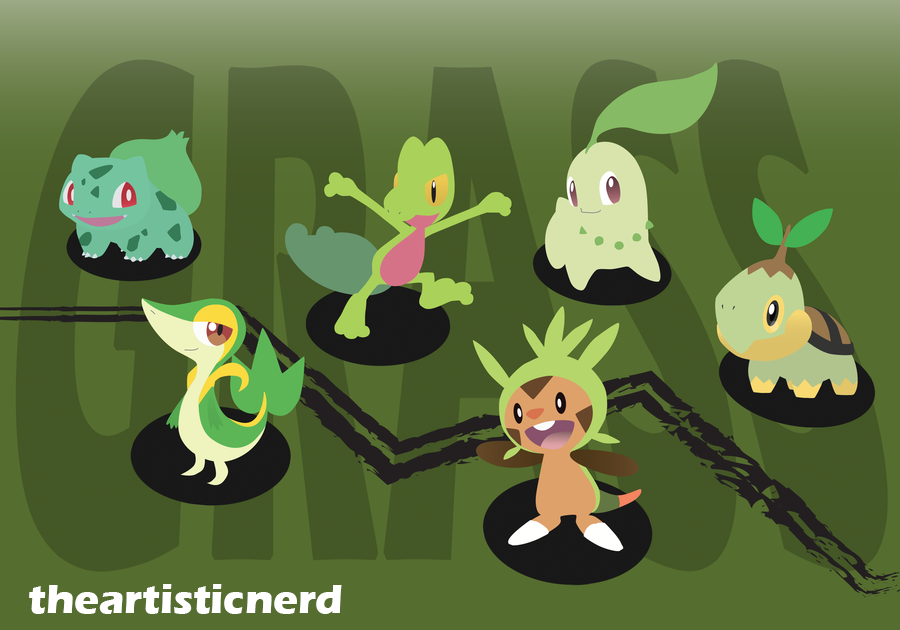 Grass Starters by theartisticnerd