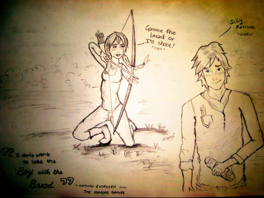 Katniss and Peeta forever. by Zuzmy