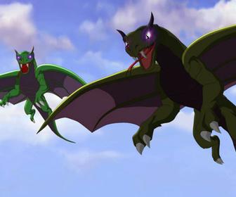 Evil Space Alien Dragons 2 by masonthetrex
