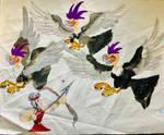 Hercules VS Stymphalian birds by masonthetrex
