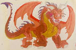 Fire breathing Red Dragon by masonthetrex