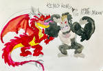 KING KONG vs THE GIANT FLAME DRAGON by masonthetrex