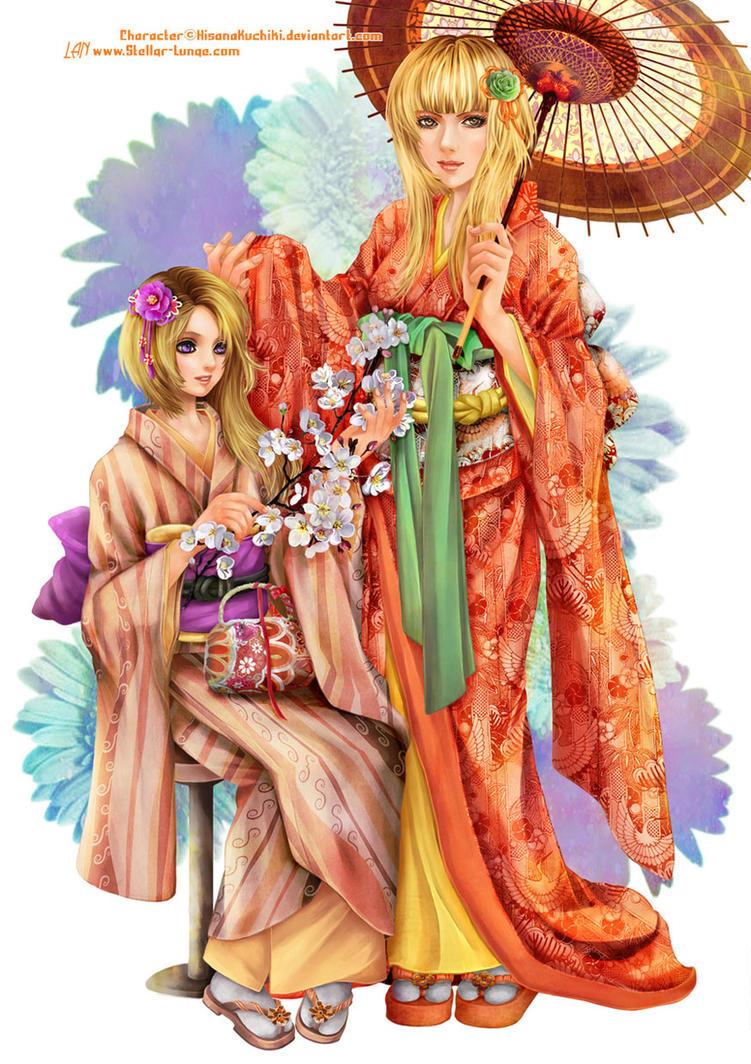 Kaori and Ayano by Lanzetter
