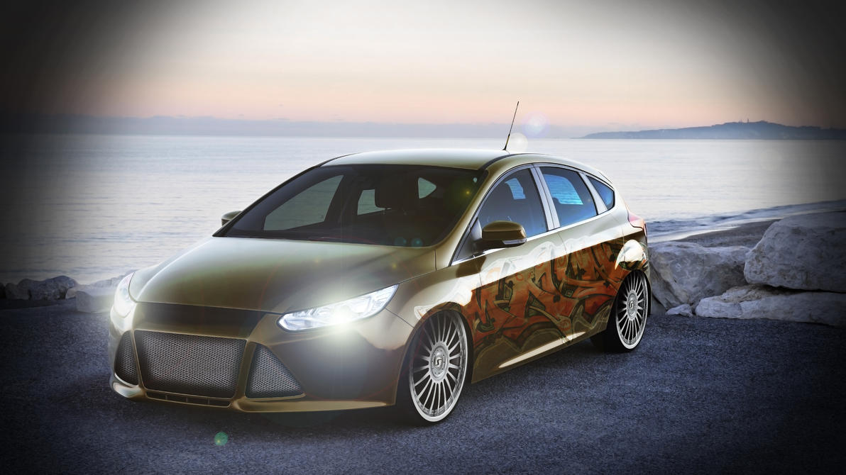 virtual tuning ford focus by wybi on deviantart. Black Bedroom Furniture Sets. Home Design Ideas