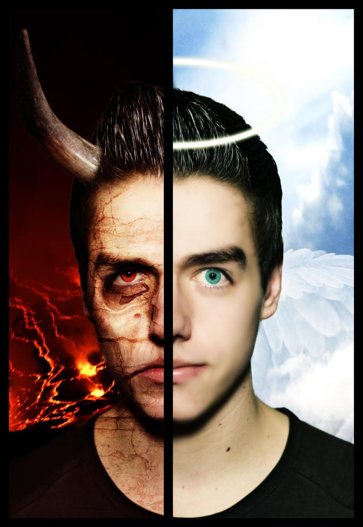 Devil vs. Angel by Wybi