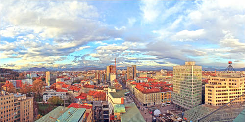 Ljubljana - view to the North
