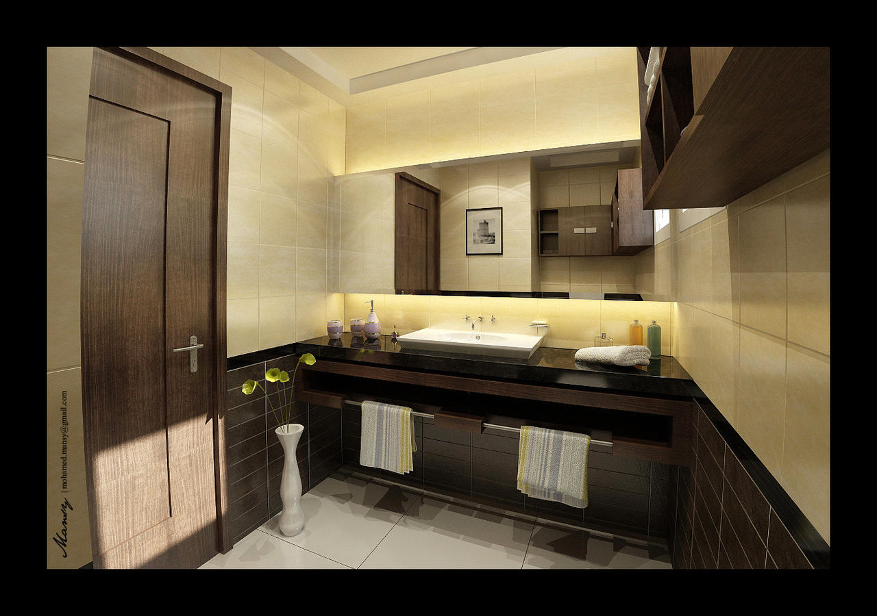 Utaibi house bathroom interior by mohamedmansy on deviantart for Bathroom interior