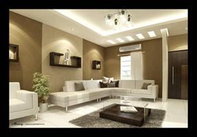 Utaibi House LivingRoom by mohamedmansy