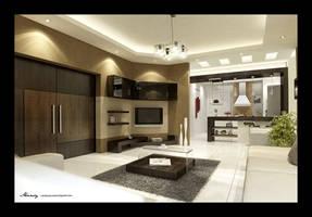 Utaibi House LivingRoom2 by mohamedmansy