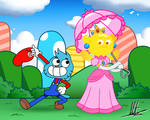 Mario Gumball and Penny Peach