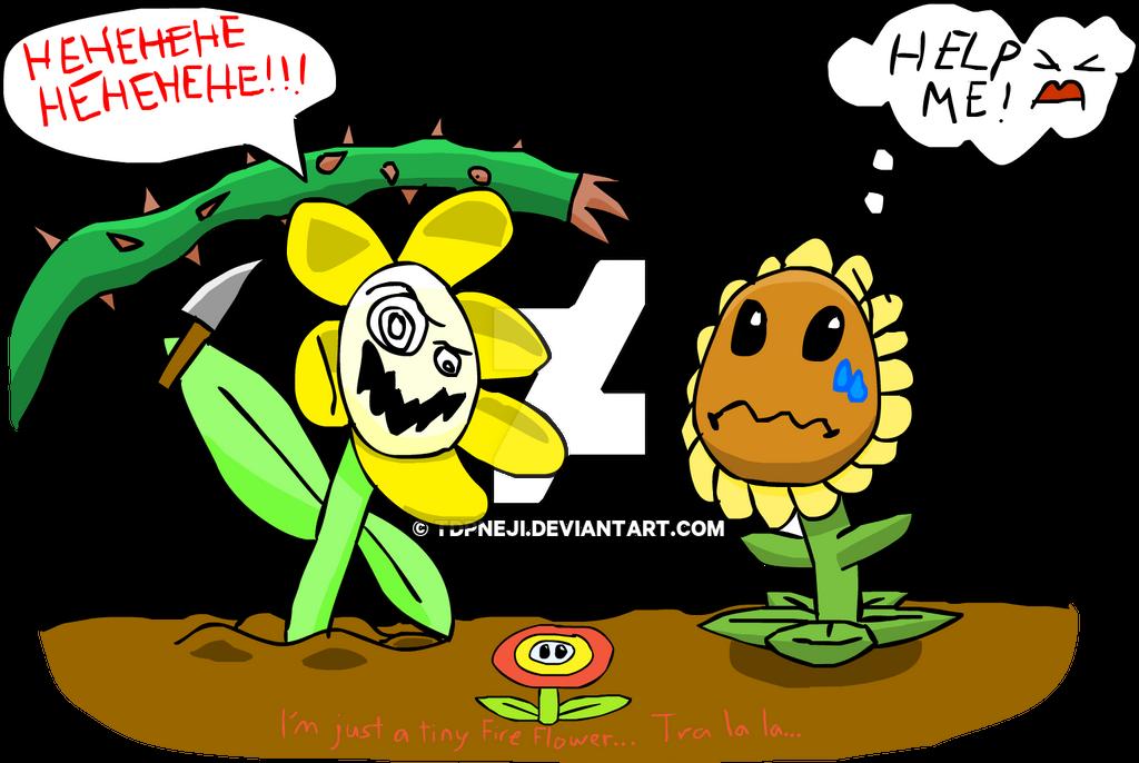 Undertale x Plants vs Zombies - Flowey v Sunflower by