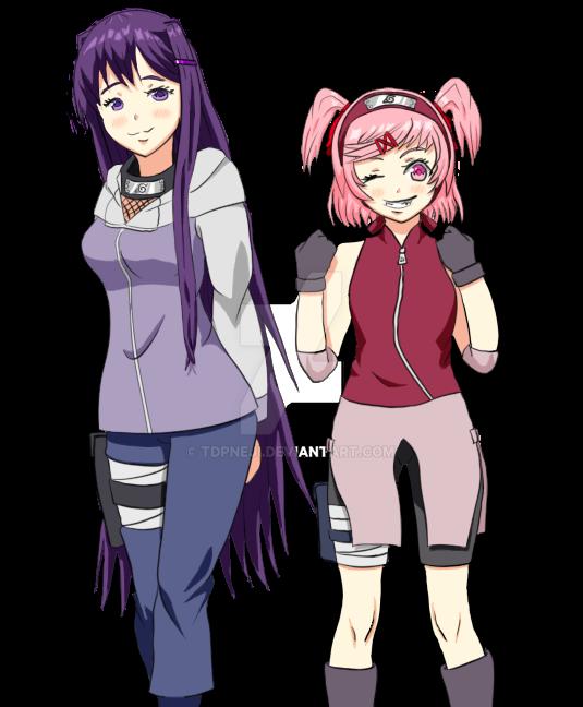 Ddlcxnaruto Yuri As Hinata And Natsuki As Sakura By Tdpneji