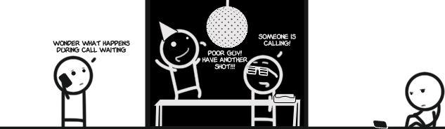 Black and White-Call Waiting