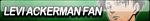 Levi Ackerman Fan Button by JustButtons