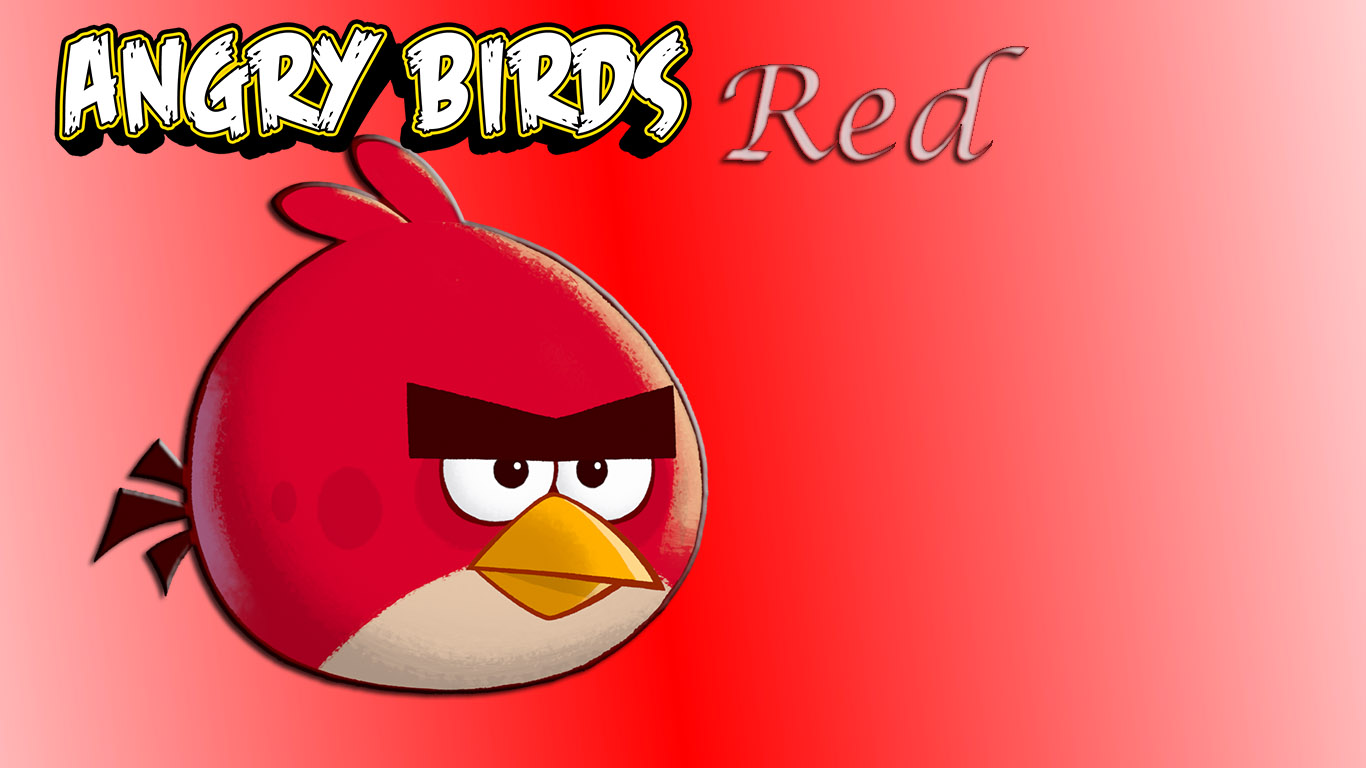 red angry bird wallpaper. Black Bedroom Furniture Sets. Home Design Ideas