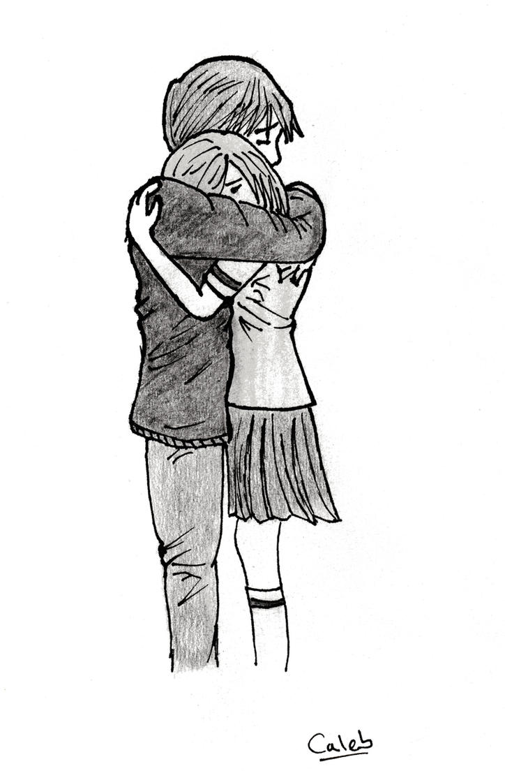 Sketches Of Couples Hugging people hugging by azuk...