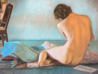 Male Nude in soft pastel by ladouceurdevivre
