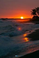 Hawaiian Sunset by kz