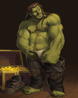 Commission: Bruduk The Pirate Ogre by solidasp