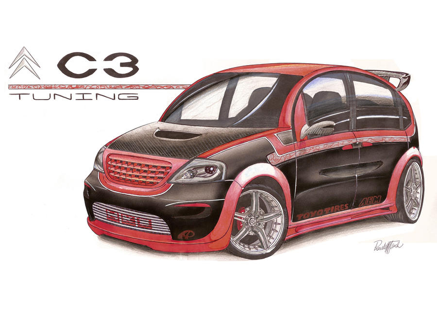 citroen c3 tuning by paulodesign on deviantart. Black Bedroom Furniture Sets. Home Design Ideas