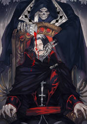 Fanart- Castlevania (Death/Dracula) by YitJulia