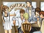 Makoto and Gundam Boys by Appledehli