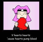 V hearts hearts