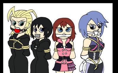 Kingdom Hearts Damsels by TMason