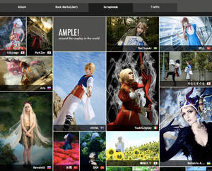 We are Japanese cosplay photo sharing site AMPLE!