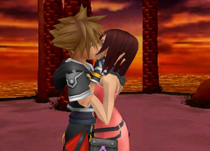 Sora x Kairi Romantic Kiss by SorasPrincesss