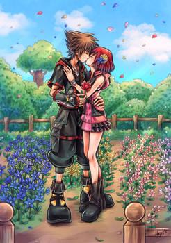 Sora and Kairi - Kiss