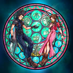 Afterlife Reunion - Zack and Aerith Stained Glass