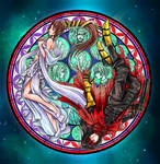 Vincent and Lucrecia Stained Glass