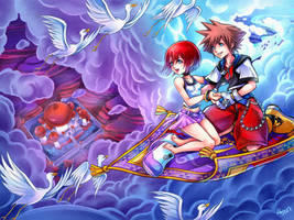 A whole new world - Sora and Kairi in Agrabah