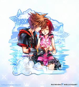 Sora and Kairi Kingdom Hearts 3 Remind Keychain