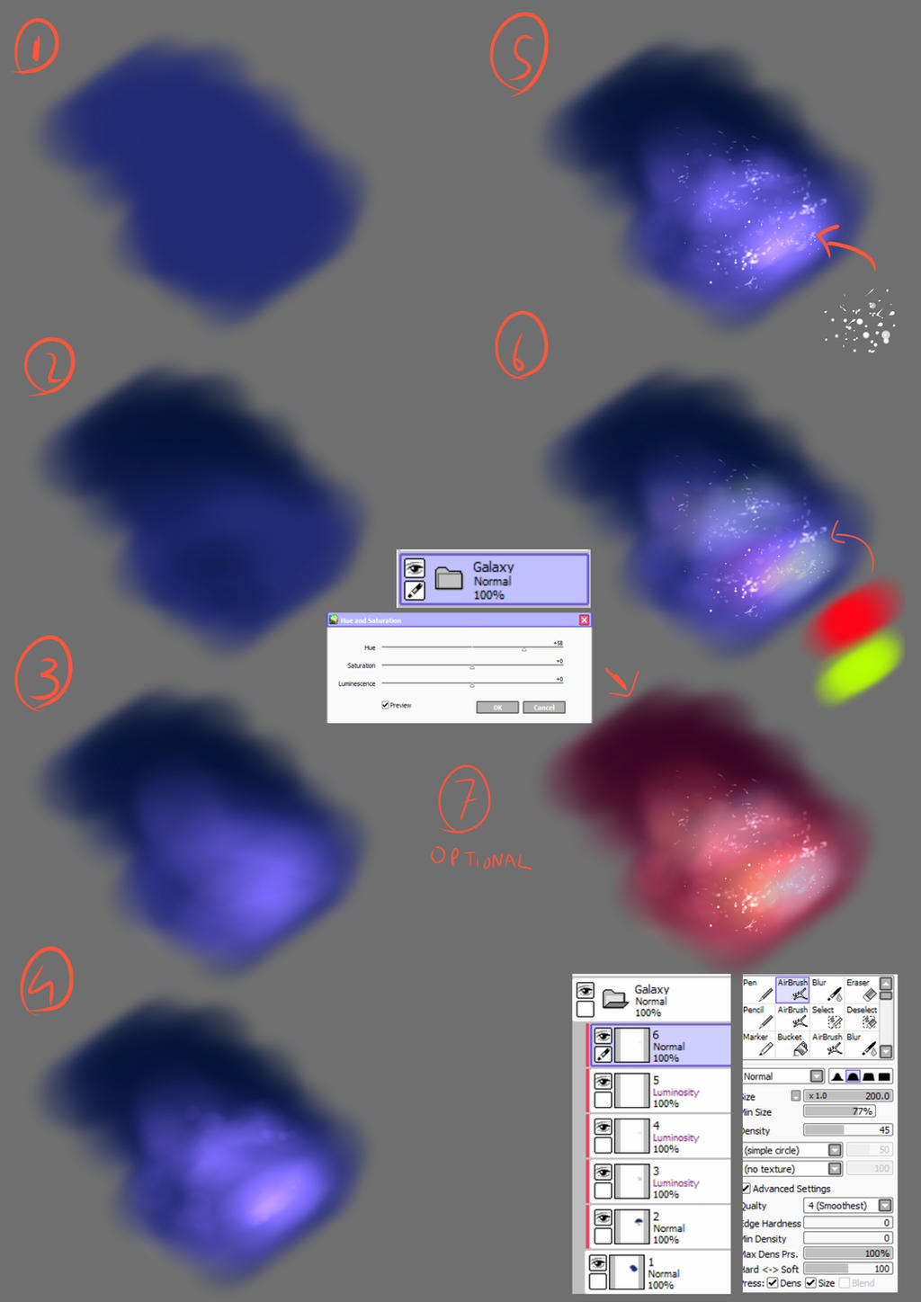 A Quick And Simple Galaxy Tutorial By Adeshark On Deviantart