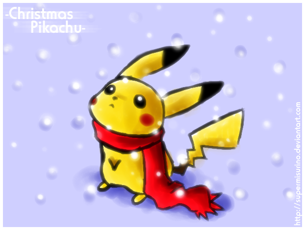 christmas pikachu by supermisurino - Christmas Pikachu