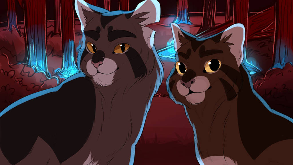 Tigerstar and Brambleclaw by beneheartcat