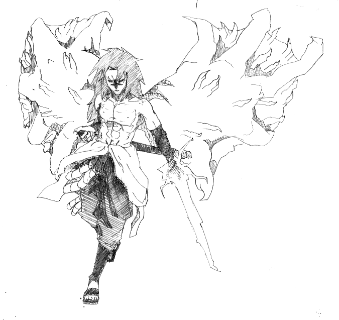Sasuke's full Curse Seal form by SoDrawnOut on DeviantArt