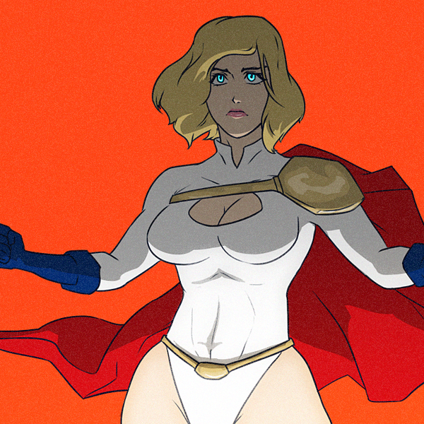 Powergirl sketchhh by SoDrawnOut