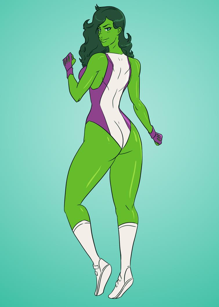She-Hulking by SoDrawnOut