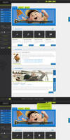 luminous full website html, css Template for Sale